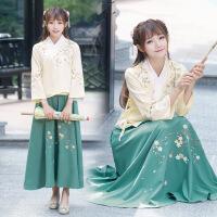 汉服女夏改良学生民族风服装中国风古装日常装民国学生装复古女装