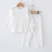 夏季薄款长袖婴儿内衣套装宝宝空调服纯棉儿童家居服睡衣全棉夏装