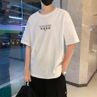 短袖男2019夏季新款男装潮流t恤男士半截袖纯棉体恤打底衫上衣服TX19016