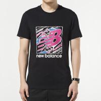 New Balance/NB 男装 运动休闲圆领透气短袖T恤 AMT91550BK