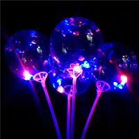 发光透明气球网红波波球羽毛发光小号气球透明亮片活动扫码小礼品微商地推神器p