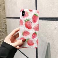 夏日小清新草莓柠檬苹果x手机壳iPhoneX/8plus/7软壳iphone6s/XS/XR/Xsm