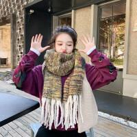 围巾女秋冬季韩版百搭外搭仿羊绒披肩新款加厚保暖两用学生围脖爆