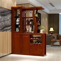 客厅餐厅家具现代实木酒柜间厅柜隔断柜双面储物柜餐边柜 1380*450*2000
