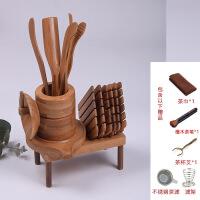 茶竹功夫茶具零配件竹制茶道六君子套装茶垫茶勺茶艺工具茶夹