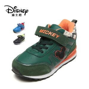 鞋柜/迪士尼冬男童鞋魔术头卡通运动休闲短靴