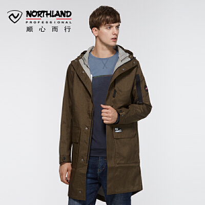 【NU】【品牌特惠】诺诗兰新款男式长款防水防风保暖冲锋衣KS065501 诺诗兰品牌特惠