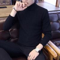 高领毛衣男韩版针织衫打底纯色修身潮流个性帅气男士秋冬季毛线衣