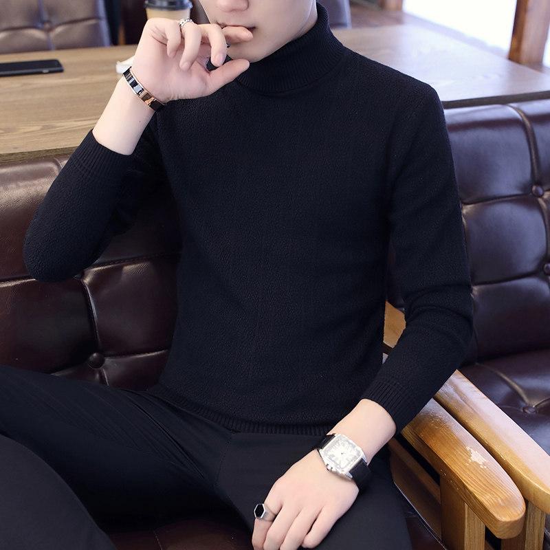 高领毛衣男韩版针织衫打底纯色修身潮流个性帅气男士秋冬季毛线衣 发货周期:一般在付款后2-90天左右发货,具体发货时间请以与客服协商的时间为准