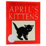 四月的小猫April's Kittens 英文原版 凯迪克银奖作品 精装大开 儿童启蒙绘本