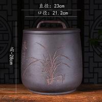 宜兴紫砂茶叶罐七饼手工大号普洱茶存储醒茶缸密封罐茶具促销