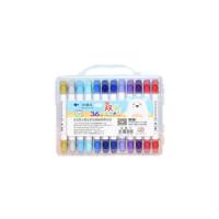 儿童水彩笔 彩绘笔套装 涂鸦笔 涂色笔 6617双头水彩笔外壳颜色随机