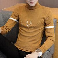 冬季毛衣男士韩版半高领加厚保暖针织衫潮流学生个性毛线衣打底衫