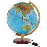 【TH】32CM地形/政区中,英文灯光地球仪(木座合金架)11-32-01 北京博目地图制品有限公司 测绘出版社 97