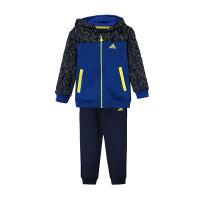 adidas阿迪达斯童服装男婴童婴童针织套装连帽套服休闲运动服DT2335