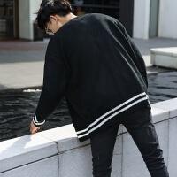 秋季新款针织开衫男外套韩版外穿V领学院风情侣装毛线衣