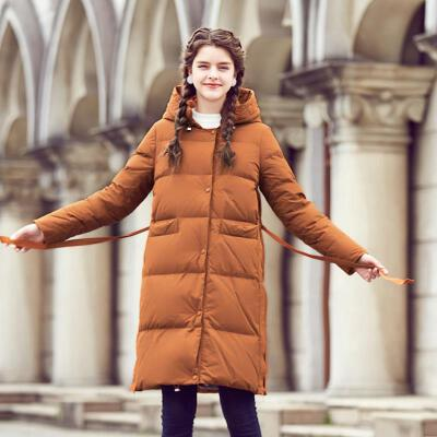 羽绒服女中长款2019韩版潮冬装加厚过膝外套时尚修身