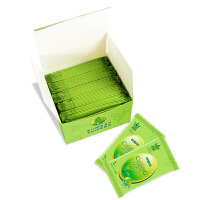 可爱多 绿茶独立单片清洁湿巾便携装50片
