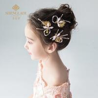儿童发夹头饰粉色头花发饰女孩发卡公主可爱韩式饰品