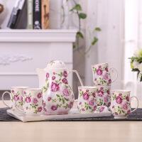 家用耐热陶瓷冷水壶凉水壶水杯杯子茶杯水具套装带盘