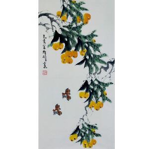 中国美协会员,龙门书画院院长侯桂峰(枇杷)68