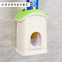 全自动挤牙膏器套装壁挂式牙刷架创意懒人牙膏挤压创意