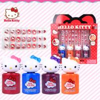 迪士尼儿童指甲油 KT猫 凯蒂猫 指甲油指甲贴套装 女孩礼品