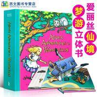 顺丰发货 Alice's Adventures in Wonderland: A Pop-up Adaptation 爱丽丝梦游仙境 经典立体书收藏 美国图书馆协会推荐趣味认知书