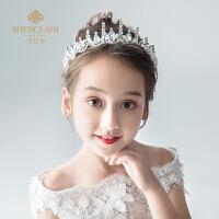 儿童皇冠头饰公主水晶大发箍女孩生日礼服发饰