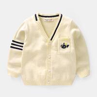 男童针织开衫外套春装春秋童装宝宝儿童毛衣小童1岁3潮洋气