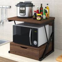 厨房置物架调料架微波炉架储物收纳架落地双层桌面烤箱架子