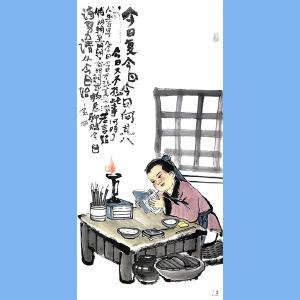 """国内""""文与画""""俱佳的艺术家刘子玉(今日复今日)29"""