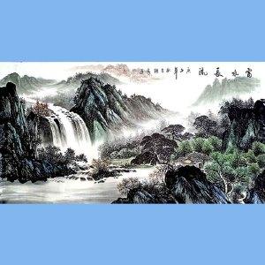 中国美术家协会会员,龙云书画院院长候桂峰(富水长流)