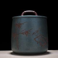 紫砂茶叶罐储茶罐普洱茶饼罐提梁7饼罐/散茶罐茶缸茶仓