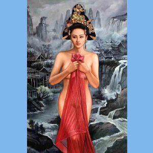 我国当代非常有名的青年油画艺术家张嘉应(江山美人)5