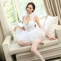 情趣内衣性感透明蕾丝芭蕾制服短裙夫妻套装 马甲+裙子+手套+内裤+网袜