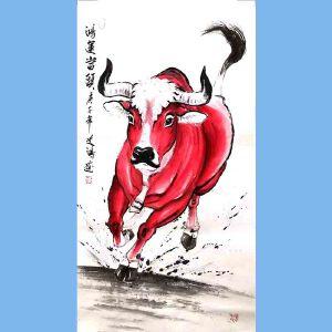笔名道鸿,中国国粹画院理事,河南省美术家协会会员,当代画马研究会会员孙振伟(鸿运当头)