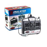 无人机模拟器 6通道USB飞行模拟器 六通道3D遥控直升机飞机无人机练习器 迪乐美