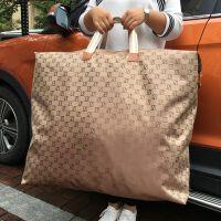 被子收纳袋防潮防水加厚牛津布行李袋家用衣物棉被搬家打包袋神器 咖啡色 双E防水
