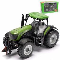 合金工程车拖拉机玩具拖拉机模型合金拖拉机车模男孩玩具车模