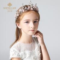儿童皇冠头饰女童公主王冠水钻大皇冠配饰生日韩式彩色饰品