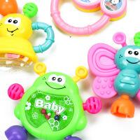 新生儿婴儿玩具 0-1岁婴儿摇铃套装3-6-12个月宝宝7hn