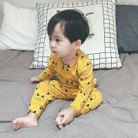 宝宝睡衣婴儿套装男1-3岁2春秋装小童保暖内衣韩版潮衣儿童居家服