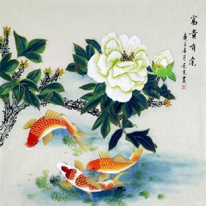 中美协会员,工笔协会会员,河南牡丹书画院院长陈景芝(富贵有余)74