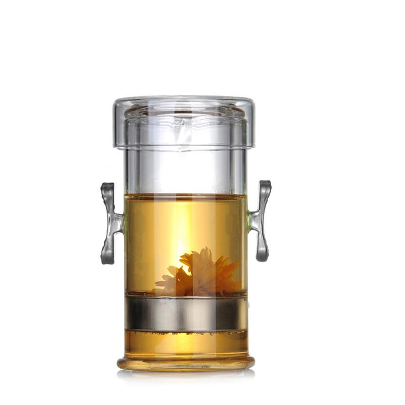 耐高温泡茶器玻璃茶具红茶泡双耳杯普洱茶杯过滤功夫茶壶快客杯壶