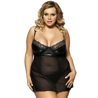 肥妞肥胖女人情趣内衣诱惑套装胖MM特加大码加大号加肥性感睡衣裙 黑色