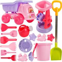 儿童沙滩玩具车套装大号宝宝玩沙子挖沙漏女孩玩具