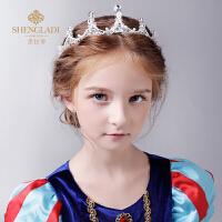 儿童皇冠头饰公主王冠水钻发箍生日礼物女孩走秀礼服演出配饰