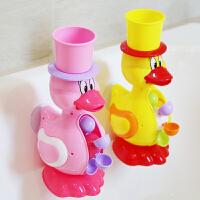 男孩女孩小黄鸭洗头杯花洒宝宝捞钓鱼套装沙滩儿童洗澡玩具戏水车
