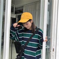 女装卫衣春季2019拼色条纹长袖卫衣学生显瘦上衣女韩版新款休闲外套女装潮 均码(160/84A)